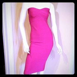 aae5a6deecc0 Women Hot Pink Bandage Dress on Poshmark